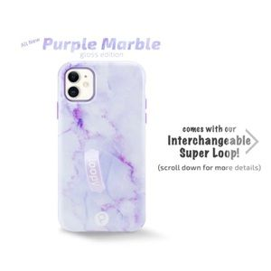 Purple marble loopy case (righty)